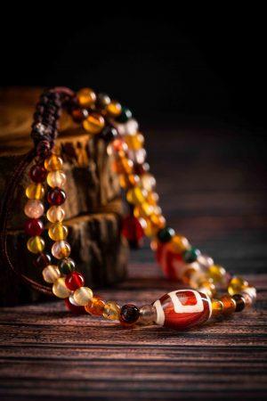 七彩琉璃瑪瑙手珠